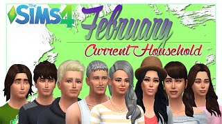 The Sims 4  Current Household - (February) - Coleman Family