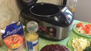 Салат из куриной печени с ананасом