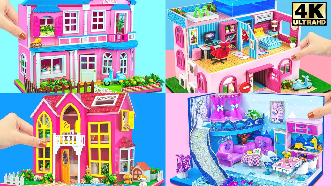 DIY Miniature Cardboard House Collection #1 ❤️ Build Amazing Miniature Villa Houses From Cardboard