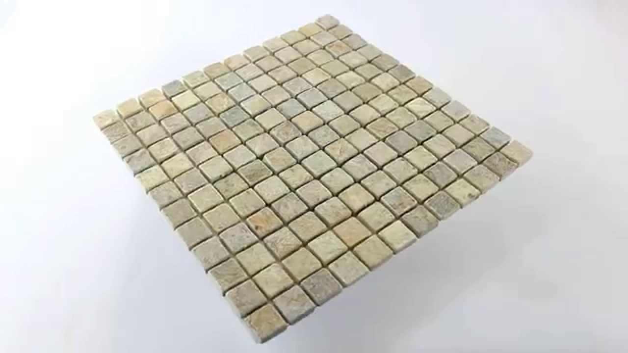 Quarzit-Fliesen Mosaik Beige Mix - YouTube