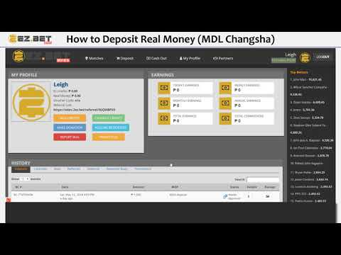How to deposit real money? (MDL Changsha)