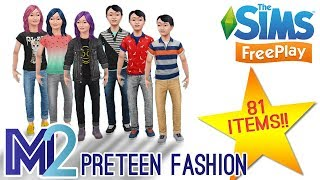 Sims FreePlay - Preteen Fashion - 81 New Items! (Early Access)