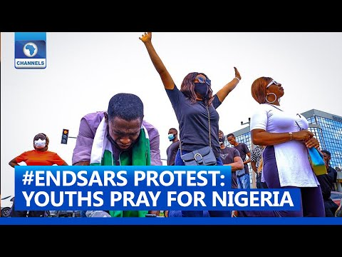 #ENDSARS Protest: Youths In Abuja Pray  For Nigeria