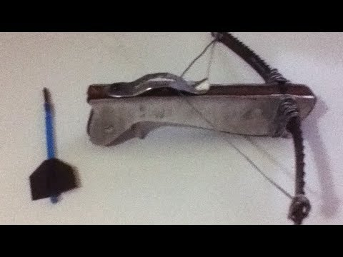 🏹How to Make a Mini Crossbow - DIY🏹