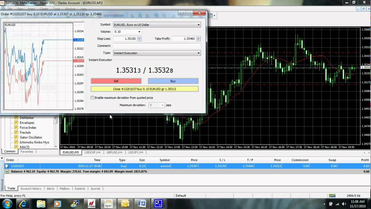 MetaTrader 4: Placing Orders, Modifying Orders, Stop Loss, Take Profit, etc - YouTube