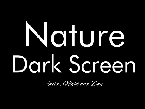 10 Hours Rain on roof with thunder sounds - Dark Screen - Nature sounds