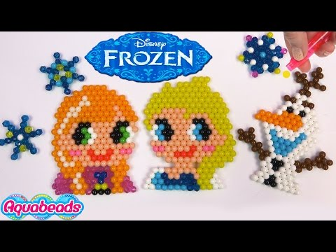Thumbnail: Queen Elsa Princess Anna Olaf Disney Frozen Water Beados like Aqua Beads Fun Simple Craft Playset