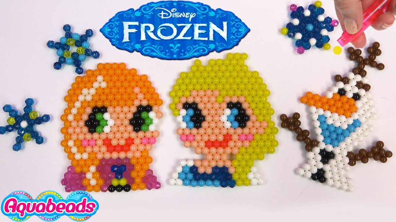 Queen elsa princess anna olaf disney frozen water beados for Free beados templates