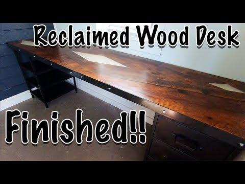 Reclaimed wood desk part 4
