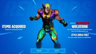 Rainbow Wolverine Skin UNLOCKED! (Fortnite Chapter 2 Season 4 LIVE)