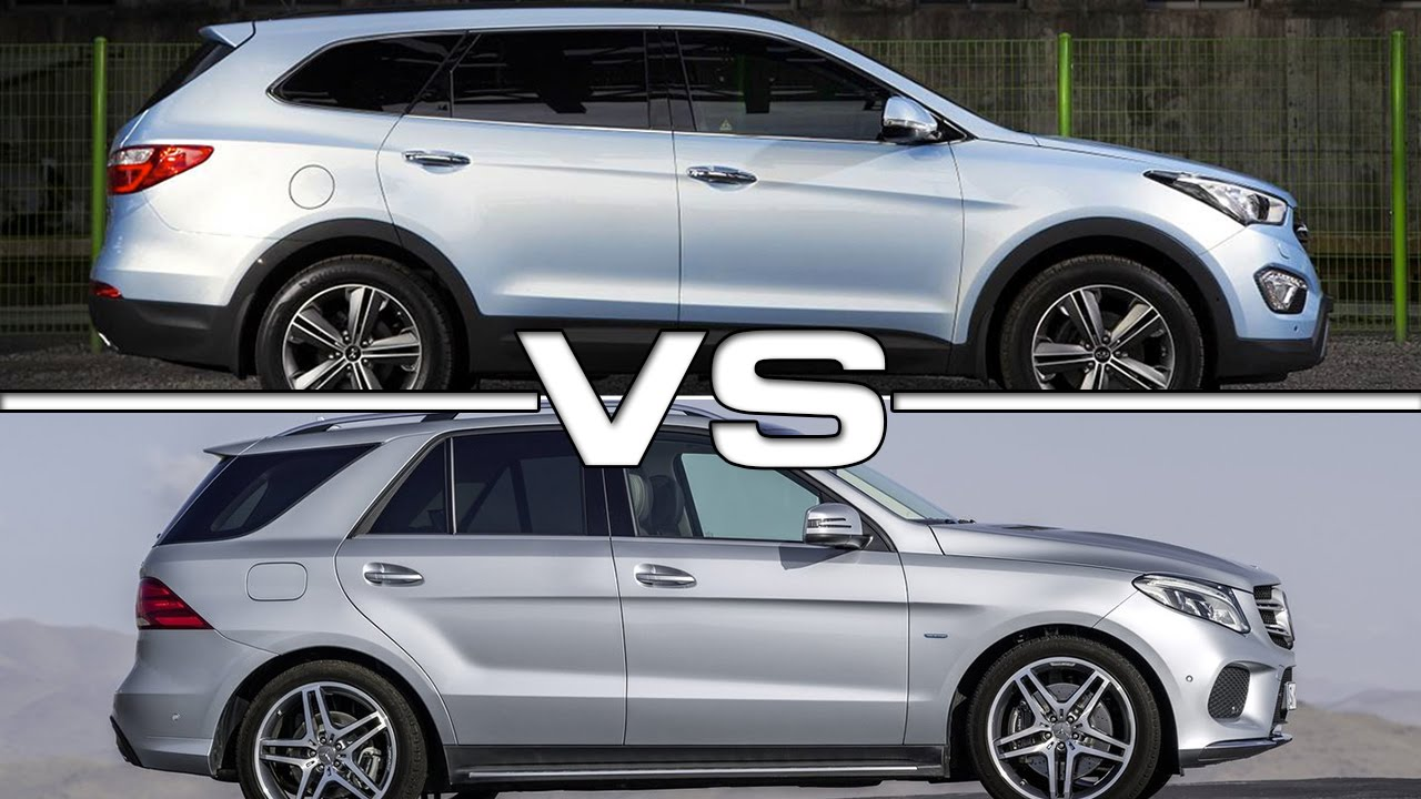 2017 Hyundai Grand Santa Fe Vs 2016 Mercedes Bemz Gle