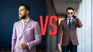 Double Breasted VS Single Breasted Suits || Men