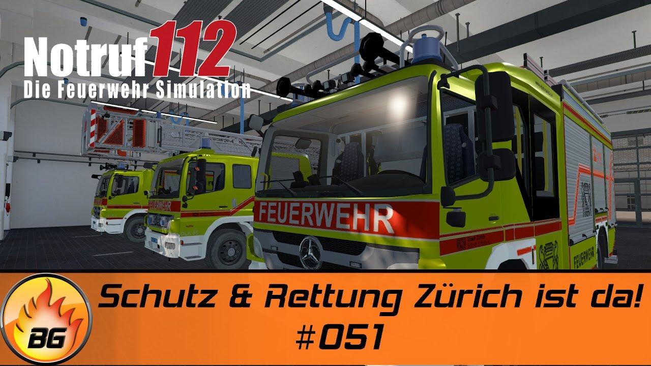 Notruf 112 - Die Feuerwehr Simulation #051 | Schutz & Rettung Zürich ist da! | Let's Play [