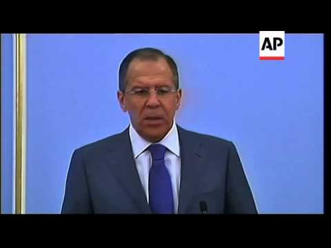 Russia FM and UN Sec General on MidEast and NAfrica