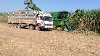 JOHN DEERE Sugarcane Harvester Model CH570 Track post by Mr. Uong Nimol Cambodia