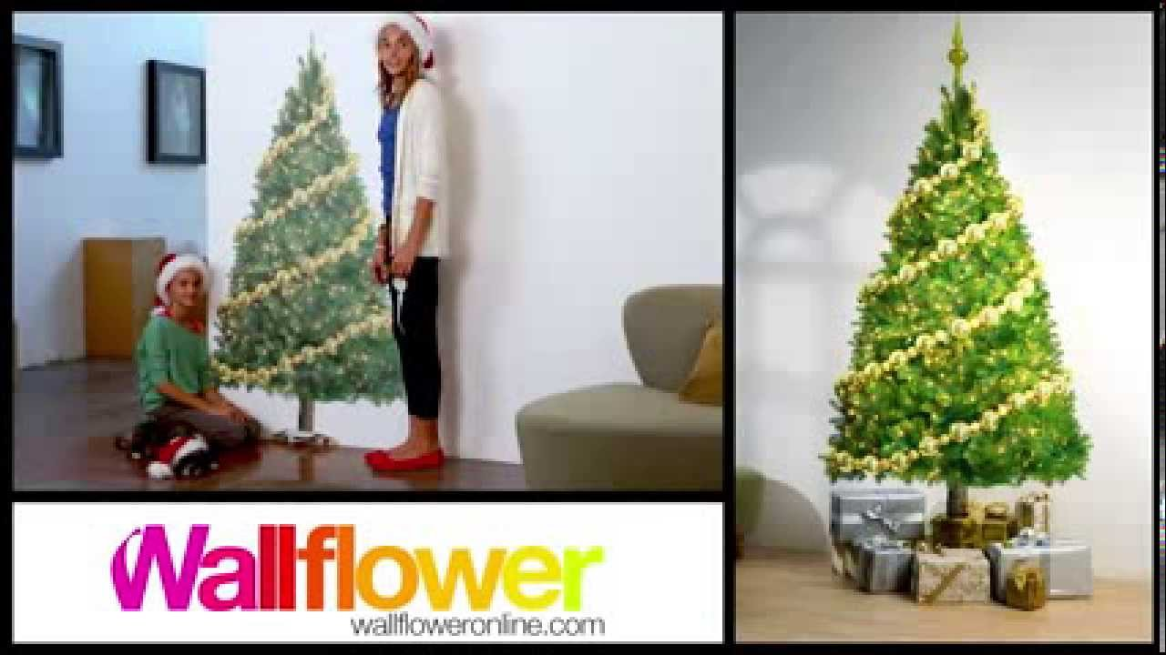 Wallflower Space Saver Christmas Trees Youtube