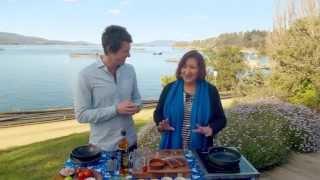 Crispy Skin Huon Salmon On Kiwi Salsa Recipe - Ben's Menu
