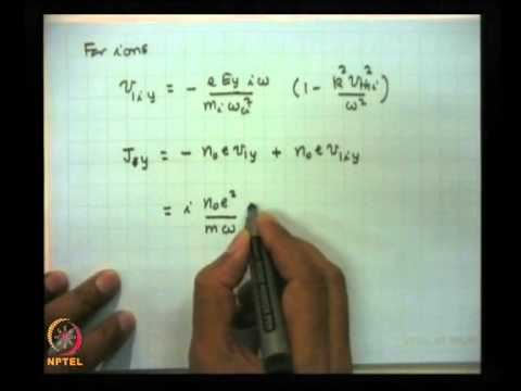 Mod-01 Lec-33 Ion acoustic, ion cyclotron and magneto sonic waves in magnetized plasma