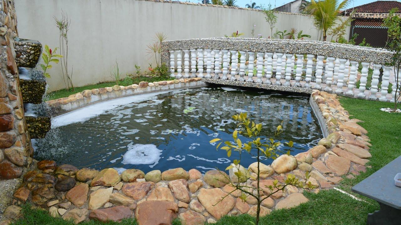 Tanque lago de pesca com cria o de til pia constru do Piscinas para tilapias
