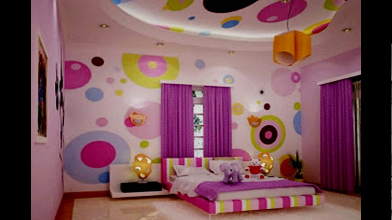 Desain Kamar Tidur Anak Perempuan Ukuran 3x3 Modern - YouTube