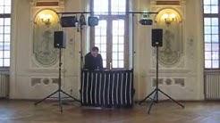 Stand DJ Hub avec jupe led RGB