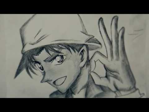 Học vẽ Hattori Heiji (Thám tử lừng danh Conan) || DRAWING HATTORI HEIJI (DETECTIVE CONAN), PENCIL 2B