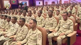 الفريق أول صدقى صبحى يلتقى عدد من مقاتلى الجيش الثالث الميدانى
