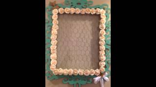 Altered Michaels Frame Using Chicken Wire