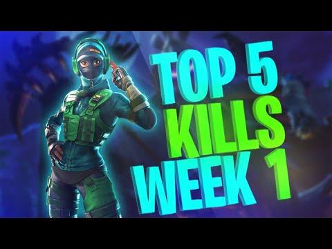 Fortnite Top 5 Kills Episode #1 صراع العمالقة