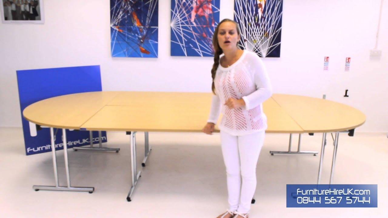 Medium Sized Meeting Room Table Demo - Furniture Hire UK