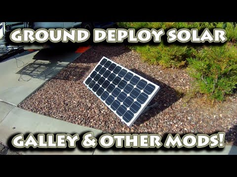 Renogy Ground Deploy Solar Panel | Wind Turbine Wiring | RV Water Saving Aerator | Galley Updates