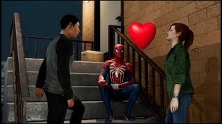 Miles Asks Mary Jane If She is Spider man's Girlfriend - Spider man Ps4 Funny