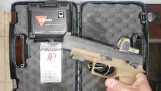 Sig Sauer P320 M17 with Trijicon RMR Type 2 installed on new Springer Precision Adapter Plate