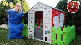 i spent 24 hours in a KIDS TOY PLAY HOUSE! *OMG*