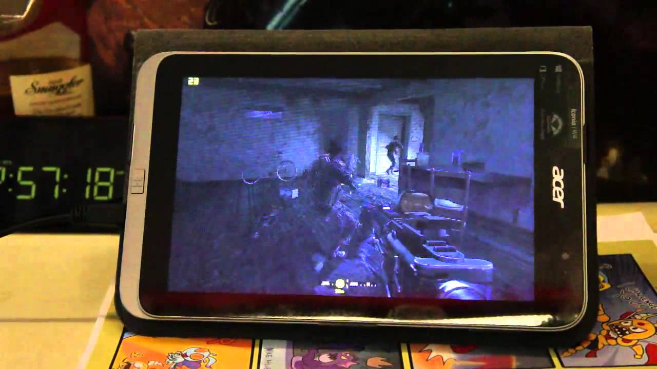 Call of Duty 4 - Modern Warfare on windows 8 tablet (Acer Iconia W4 gaming)