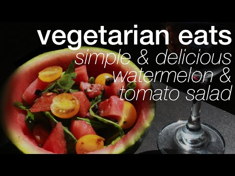 Watermelon Tomato Salad | Vegetarian & Raw Vegan | askpRoy