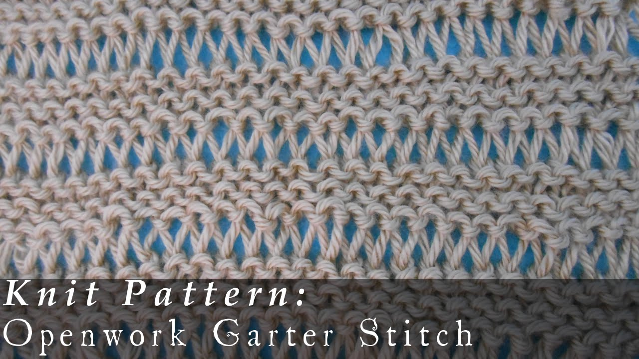 Reversible Knitting Stitches In The Round : Openwork Garter Stitch Reversible { Knit } - YouTube