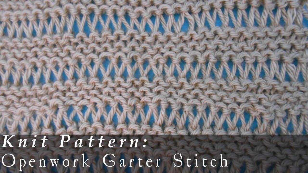 Undo Knitting Garter Stitch : Openwork Garter Stitch Reversible { Knit } - YouTube