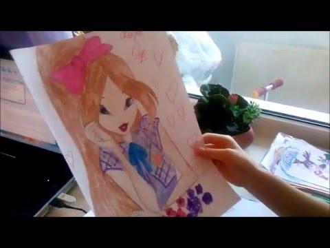Мои рисунки Винкс, Монстер Хай, My drawings Winx, Monster High, Ever After High