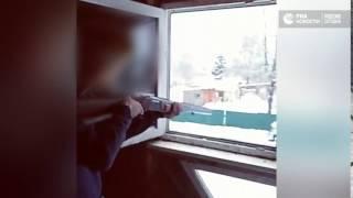 Подростки обстреляли полицейский автомобиль под Псковом