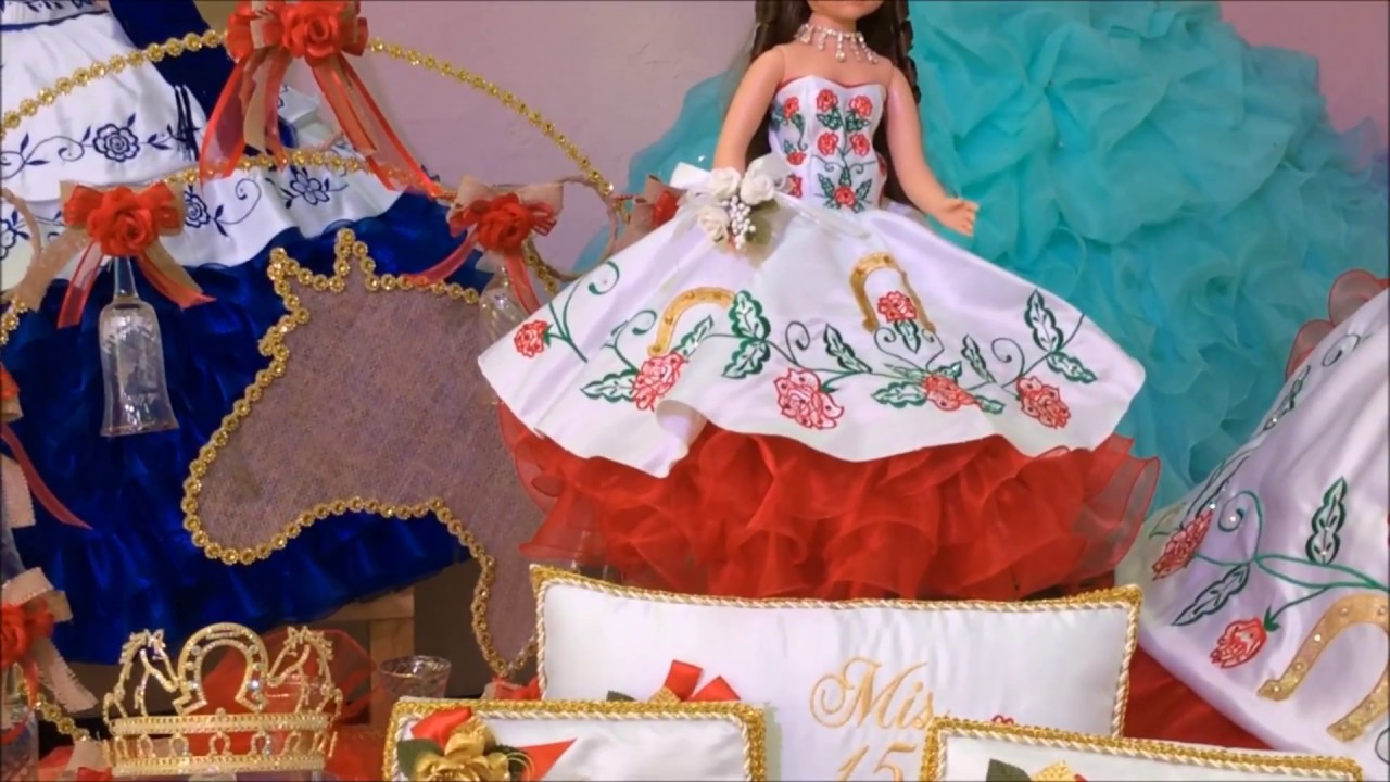 CHARRA SPECIAL QUINCEANERA PACKAGE WITH DRESS AND ACCESSORIES #QSP10165 - YouTube