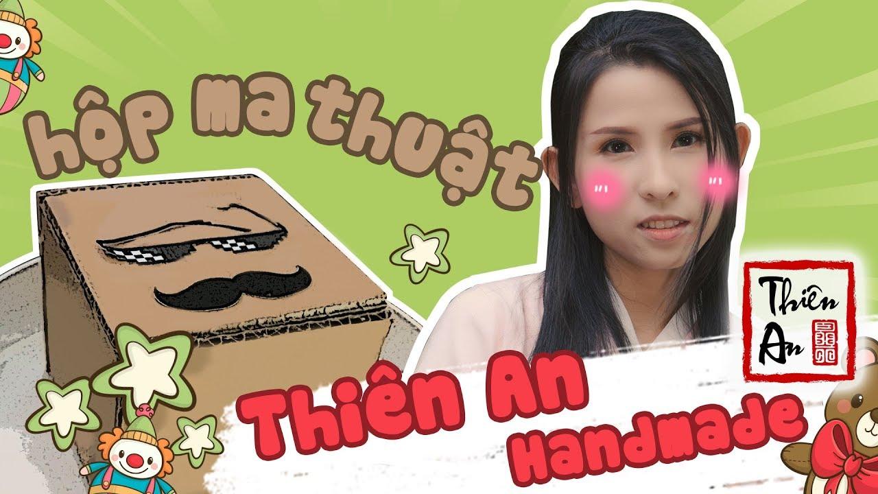 CÁCH LÀM HỘP MA THUẬT BẰNG GIẤY CARTON  ( hộp đựng tiền xu ) - Thiên An Handmade