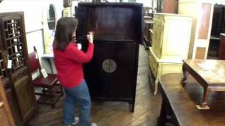 Antique Chinese Bookcase Armoire Cabinet Cf-122b