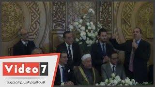عمرو خالد يمازح نجل محمود الشامى و كريمة الليثى اثناء عقد قرانهما