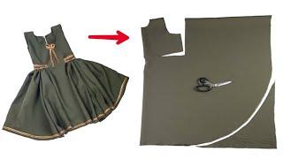 أسهل خياطة فستان بفكره جديده ومذهله /  أحدث خياطة فستان طفلة بكل بساطة