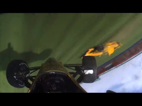 Ryan Briscoe & Ryan Hunter-Reay Incident At Auto Club Speedway