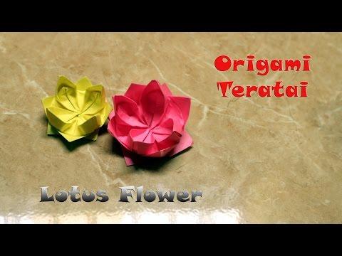 Tutorial origami bunga teratai origami lotus flower diy