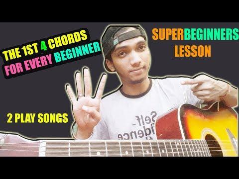 SUPERBEGINNER? LEARN THIS 4 CHORD FOR SINGING SONGS - Starting BASIC Chords