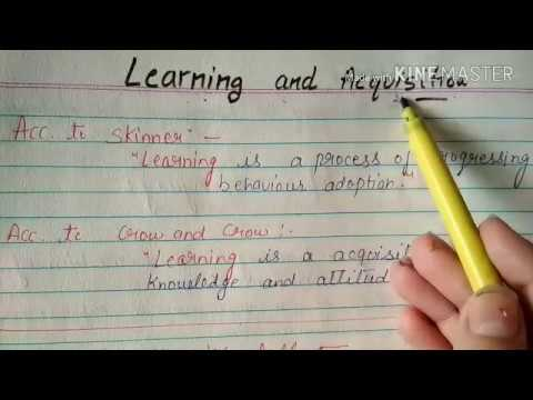 LEARNING AND ACQUISITION PEDAGODY