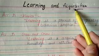 LEARNING AND ACQUISITION PEDAGODY thumbnail